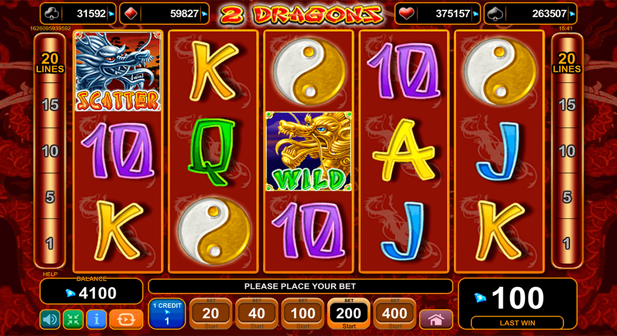 2 dragons egt casino slots