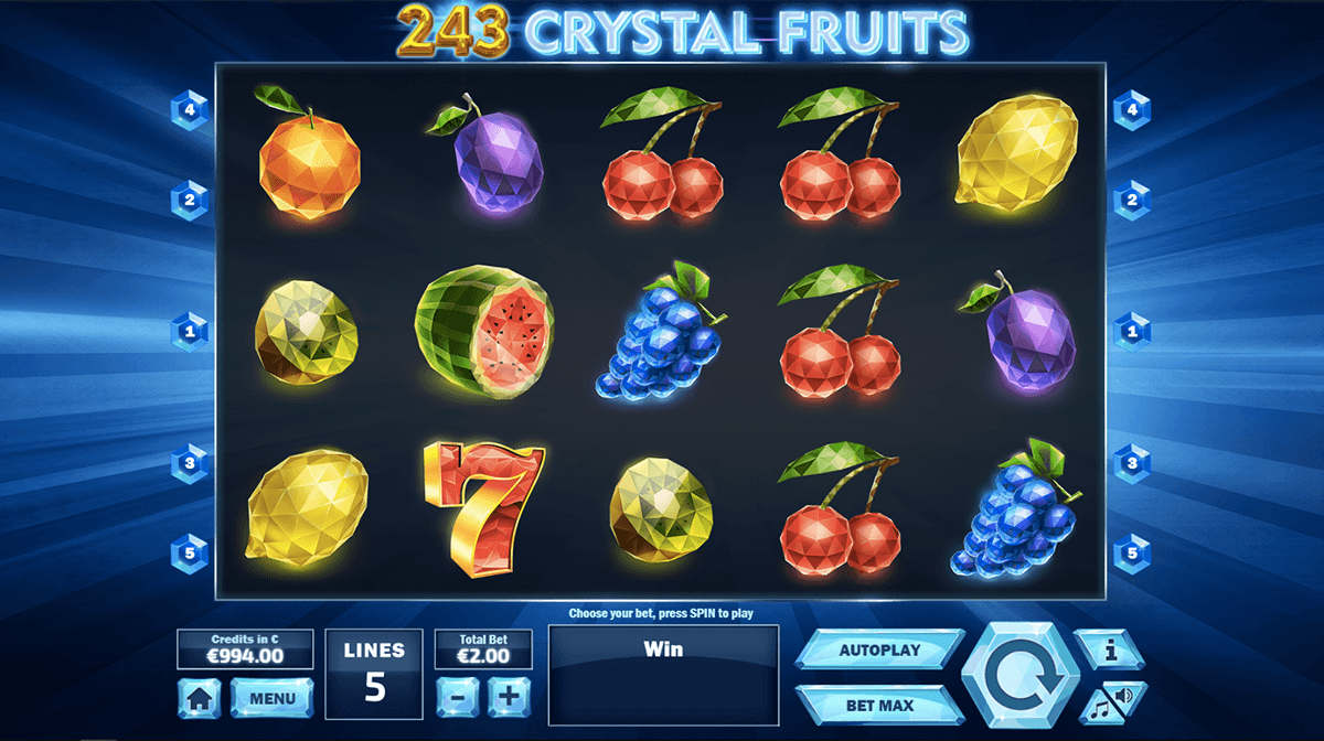 243 Crystal Fruits Slots - Play for Free & Win for Real