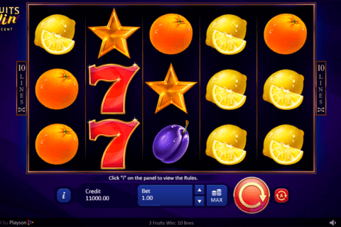 3 FRUITS WIN PLAYSON CASINO SLOTS