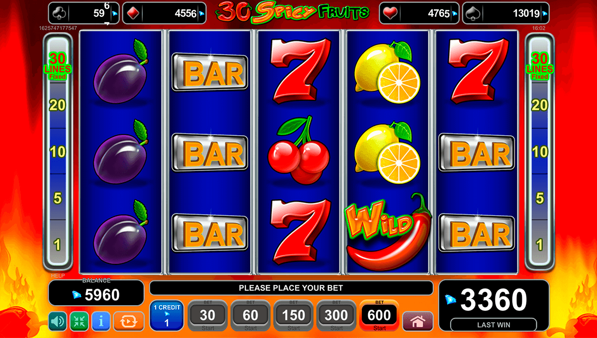 30 spicy fruits egt casino slots