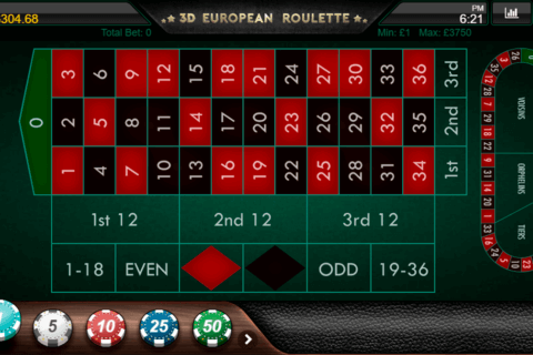 3D EUROPEAN ROULETTE IRON DOG LOOK