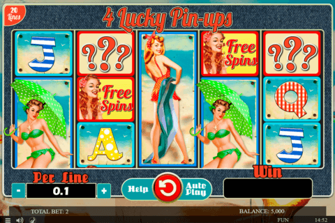 4 LUCKY PINUPS SPINOMENAL CASINO SLOTS