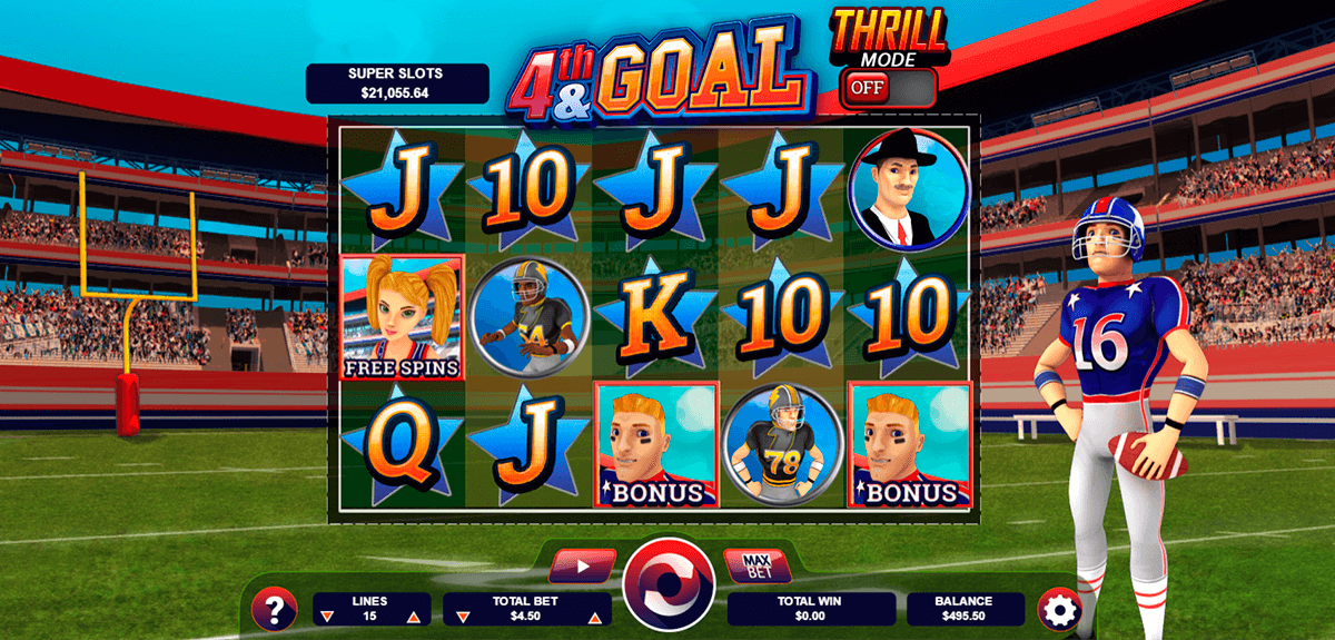 4TH AND GOAL ARROWS EDGE CASINO SLOTS