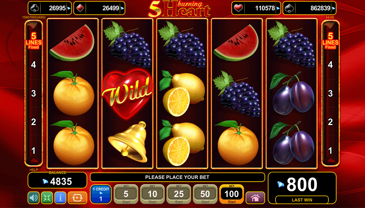 5 burning heart egt casino slots zero