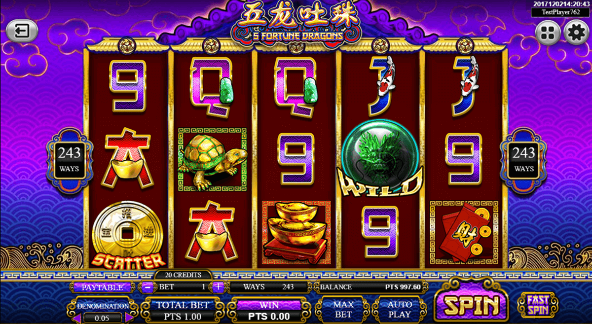 5 fortune dragons spadegaming casino slots