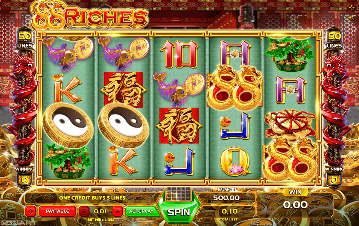 88 riches gameart casino slots