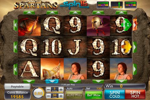 AGE OF SPARTANS SPIN 16 GENII CASINO SLOTS