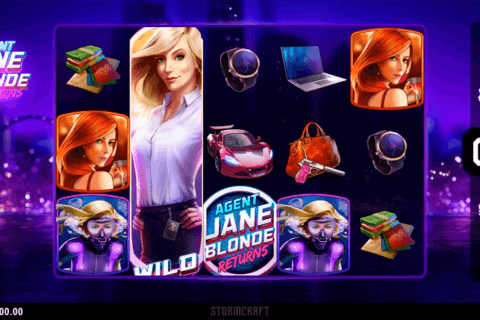 AGENT JANE BLONDE RETURNS MICROGAMING CASINO SLOTS