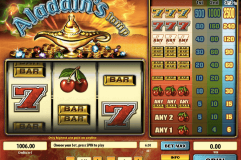 aladdins lamp tom horn casino slots