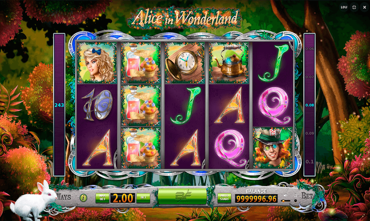 Alice in Wonderland™ Slot Machine Game to Play Free in WMS Gamings Online Casinos