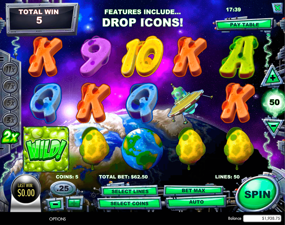 Space Invasion Slots - Play Free Amaya Slot Games Online