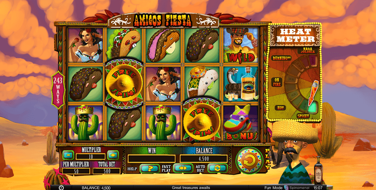 3 Amigos™ Slot Machine Game to Play Free in AlteaGamings Online Casinos