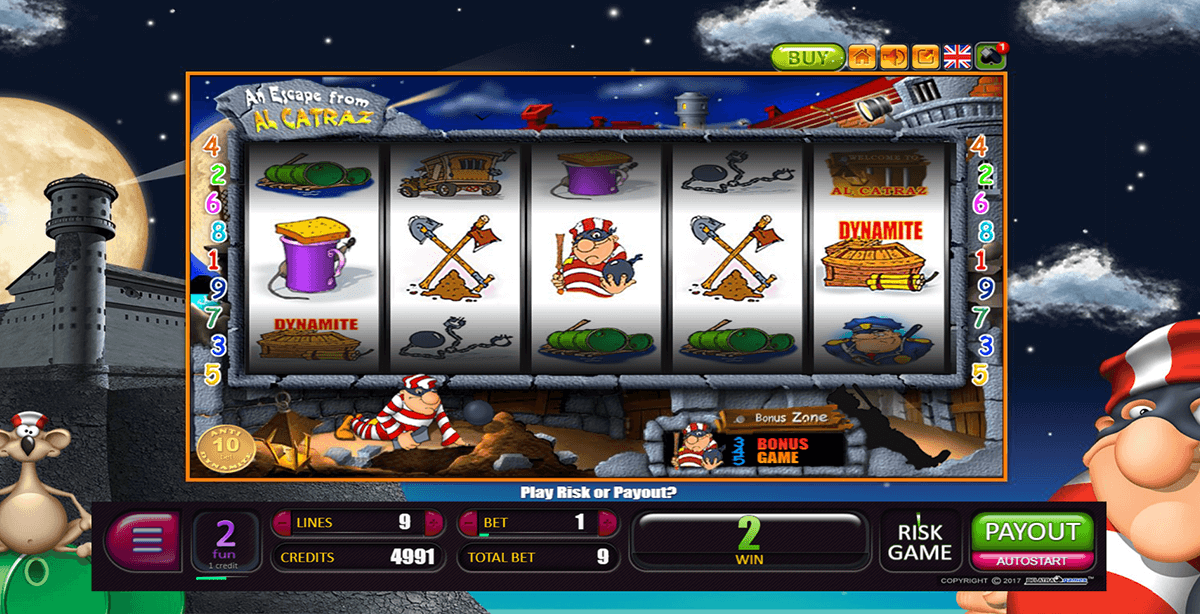 an escape from alcatraz belatra casino slots