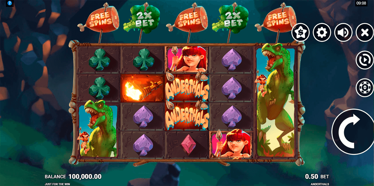 anderthals just for the win casino slots