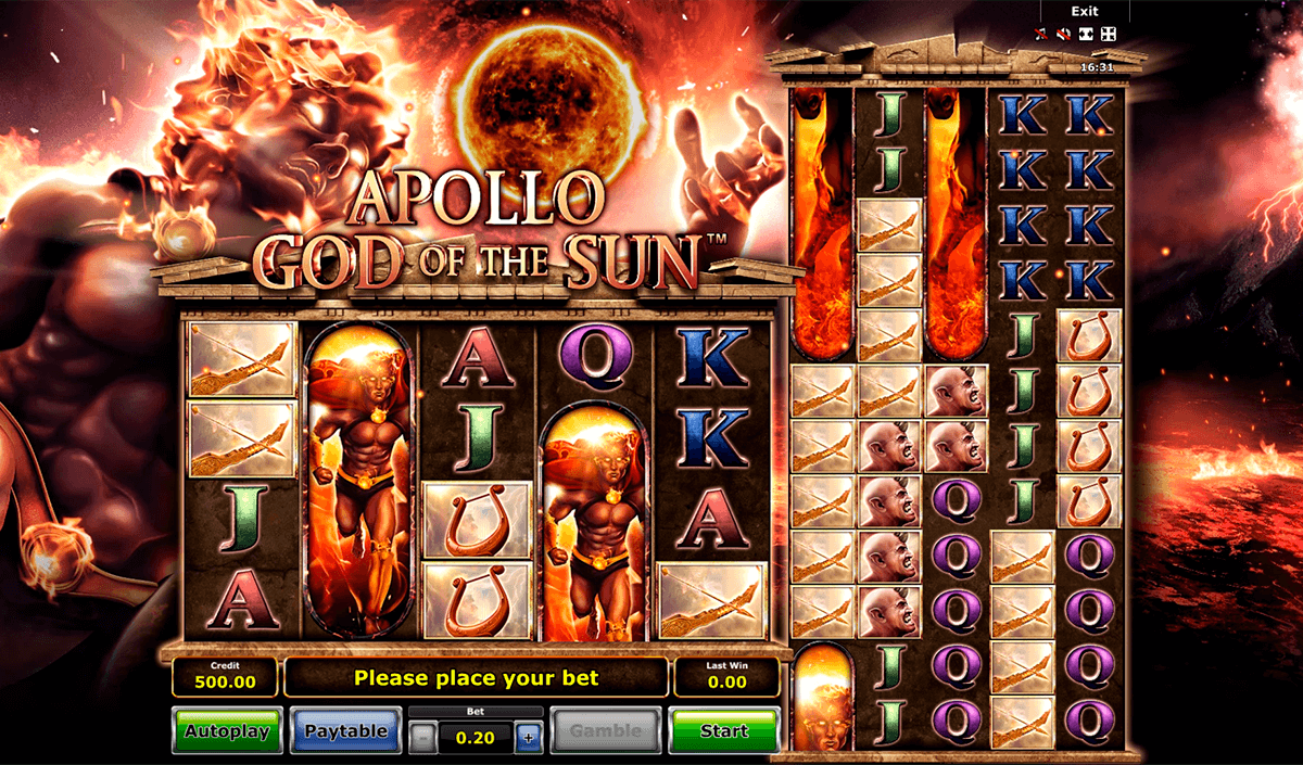 apollo god of the sun novomatic casino slots