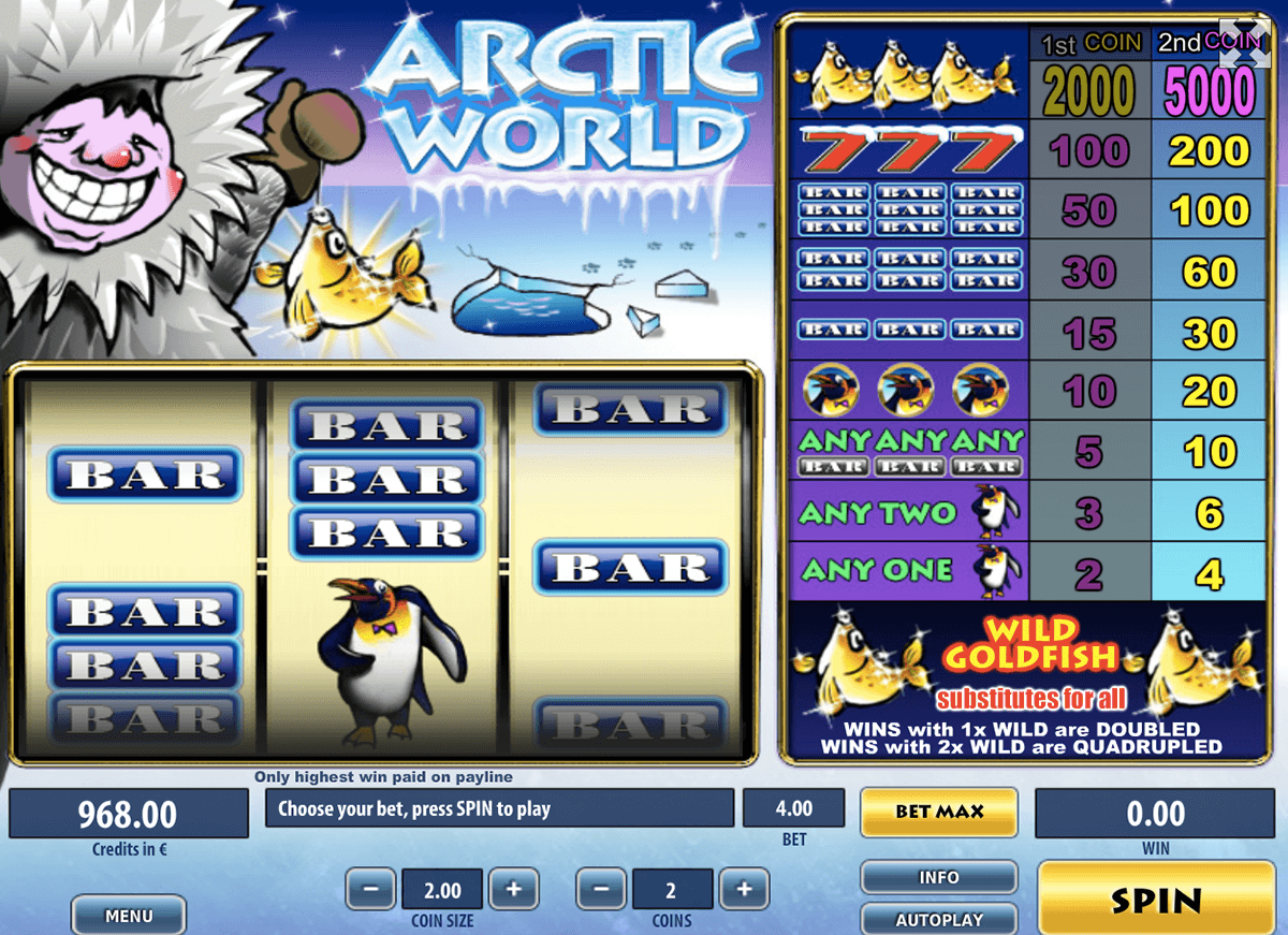 ARCTIC WORLD TOM HORN CASINO SLOTS