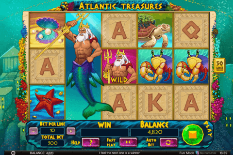 ATLANTIC TREASURES SPINOMENAL CASINO SLOTS