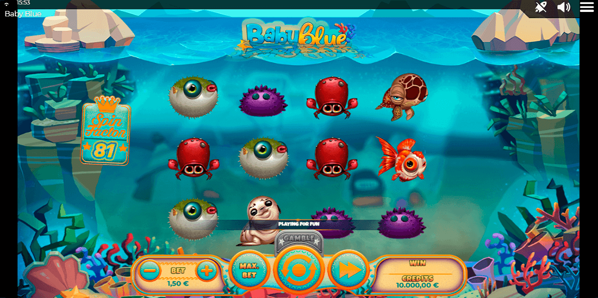 baby blue spinmatic casino slots