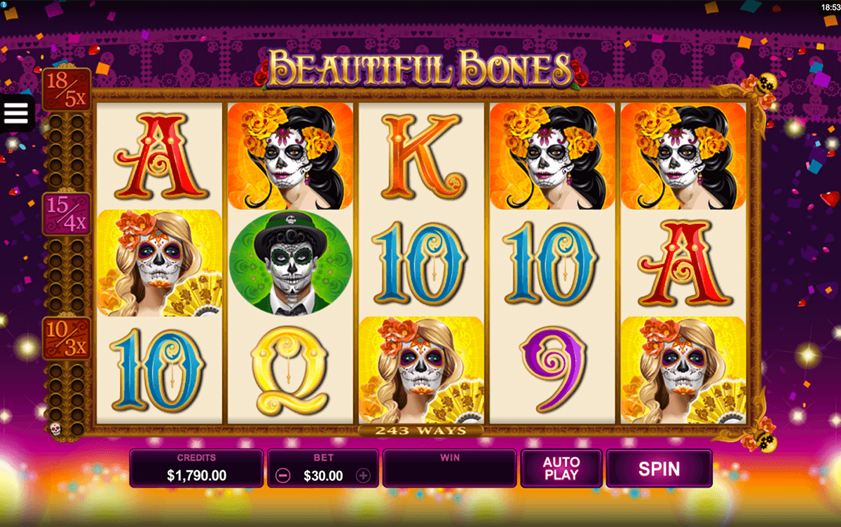 BEAUTIFUL BONES MICROGAMING CASINO SLOTS