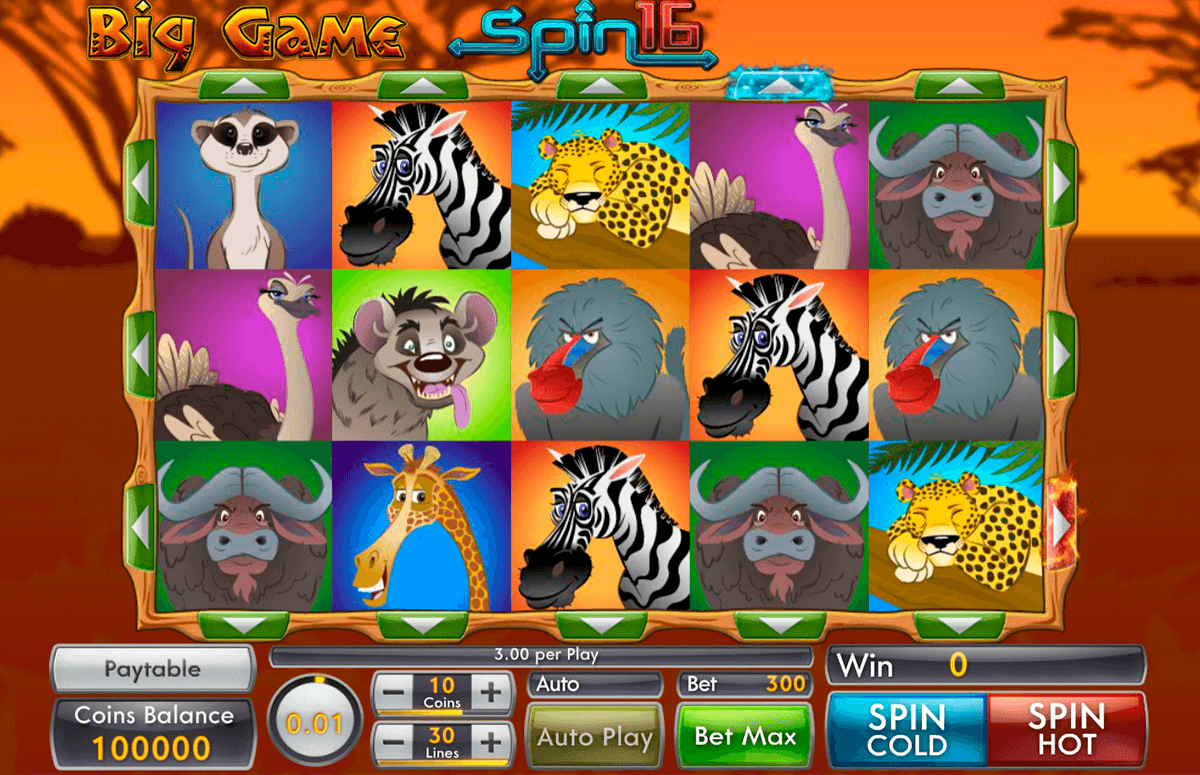 big game spin 16 genii casino slots