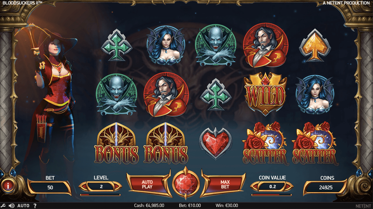 BLOOD SUCKERS II NETENT CASINO SLOTS