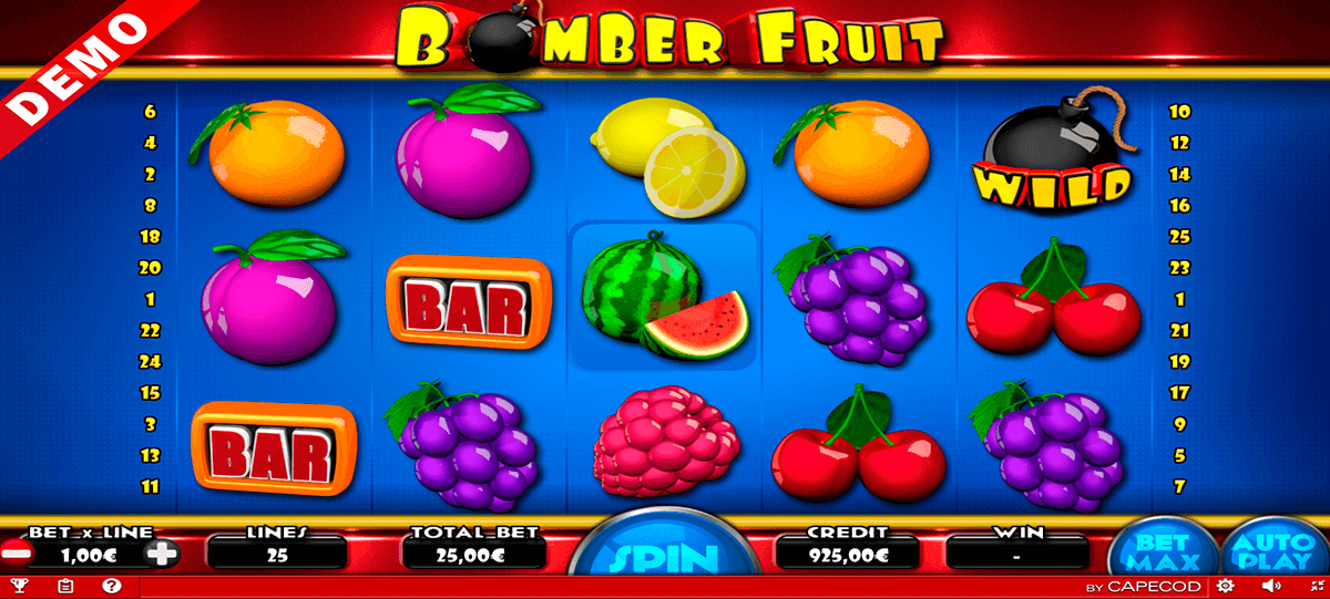 bomber fruit capecod gaming casino slots