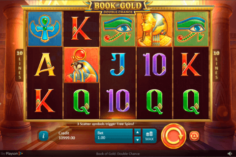 BOOK OF GOLD DOUBLE CHANCE PLAYSON CASINO SLOTS