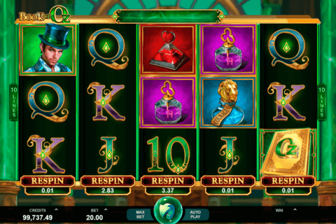 BOOK OF OZ MICROGAMING CASINO SLOTS