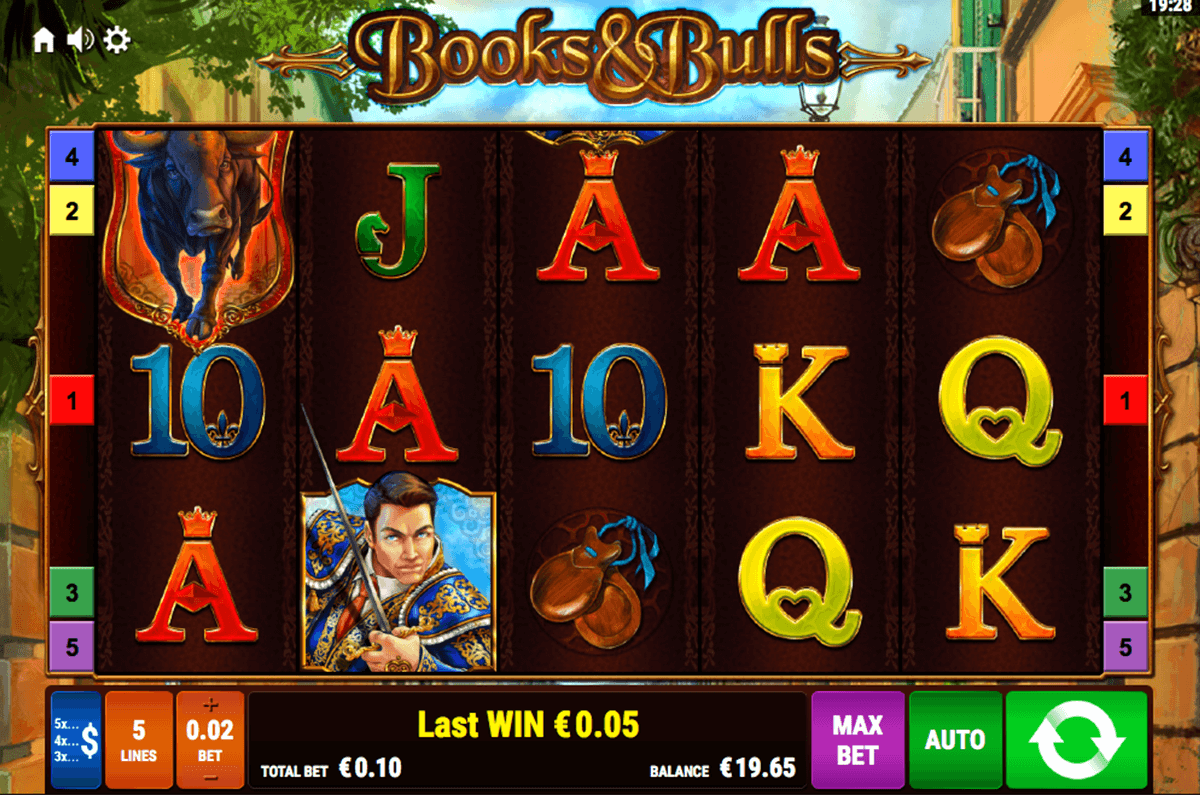books and bulls bally wulff casino slots