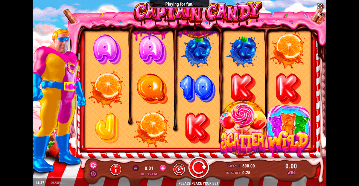 captain candy gameart casino slots