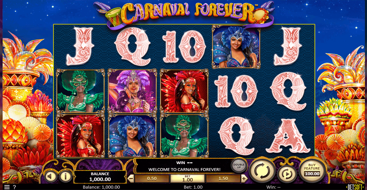 carnaval forever betsoft casino slots