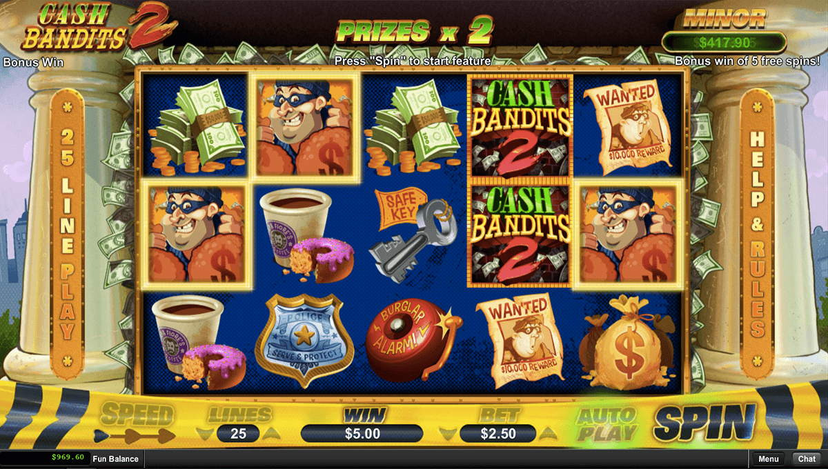 Cash Bandits Slot Machine Online ᐈ RTG™ Casino Slots