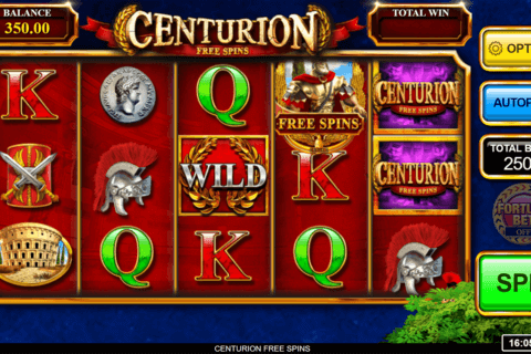 CENTURION FREE SPINS INSPIRED GAMING CASINO SLOTS