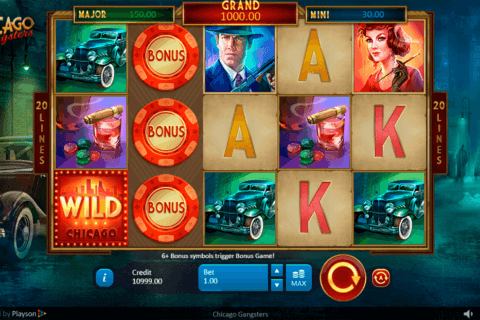 CHICAGO GANGSTERS PLAYSON CASINO SLOTS