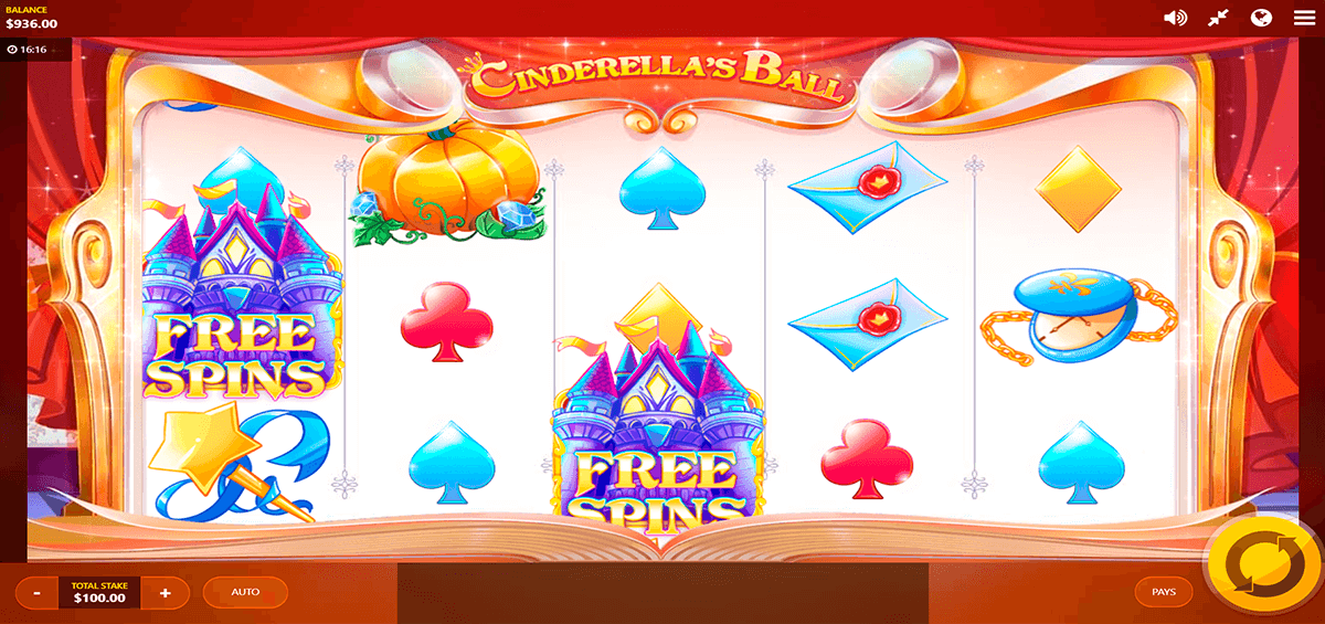 CINDERELLAS BALL RED TIGER CASINO SLOTS