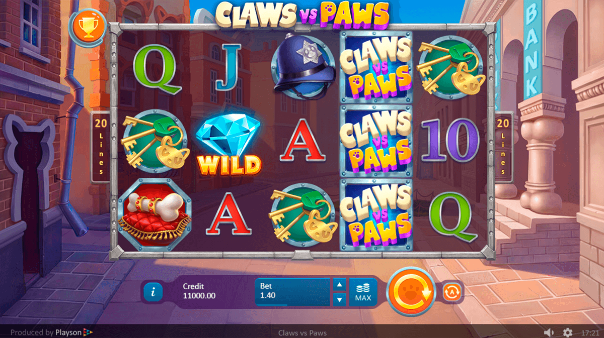 claws vs paws playson casino slots