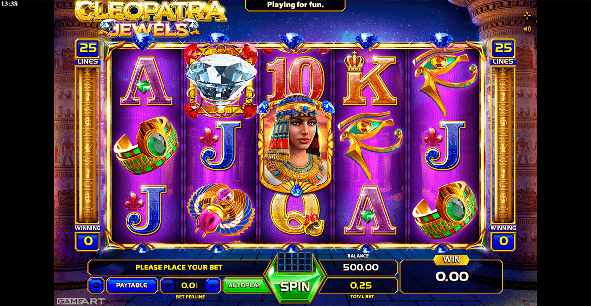 Cleopatra jewels gameart casino slots Babaeski