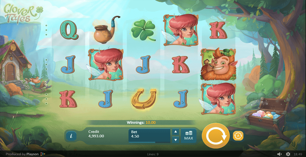 CLOVER TALES PLAYSON CASINO SLOTS