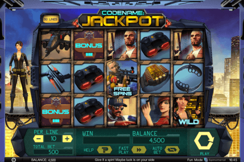 codename jackpot spinomenal casino slots