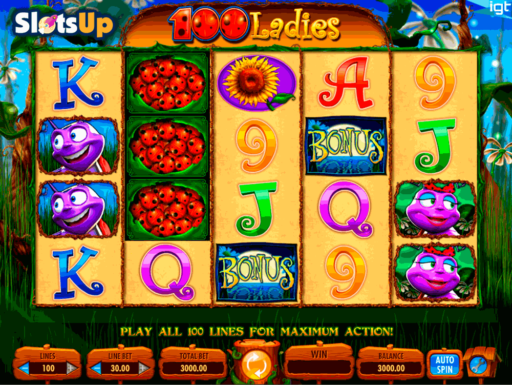 100 LADIES IGT CASINO SLOTS