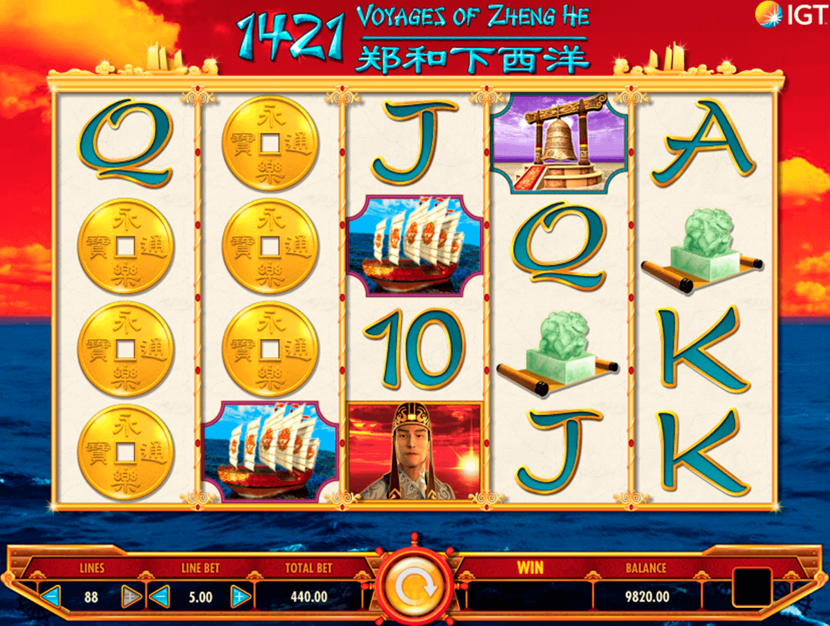 1421 VOYAGES OF ZHENG HE IGT CASINO SLOTS