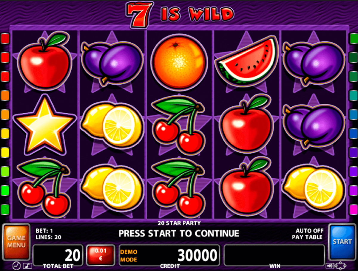20 STAR PARTY CASINO TECHNOLOGY SLOT MACHINE