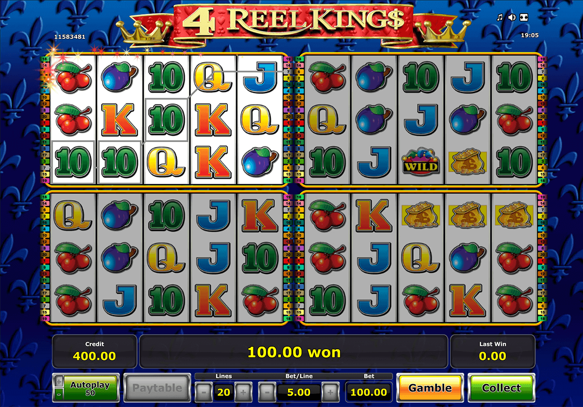 Play 4 Reel Kings slot at Casumo