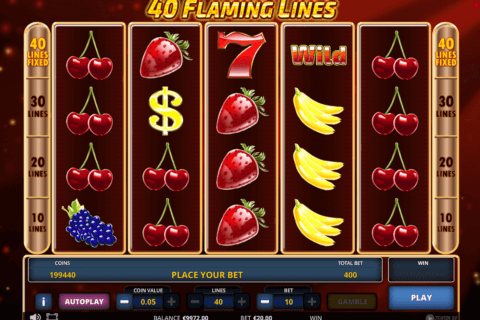 40 flaming lines zeus play 480x320