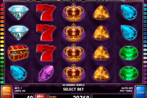 40 shining jewels casino technology slot machine
