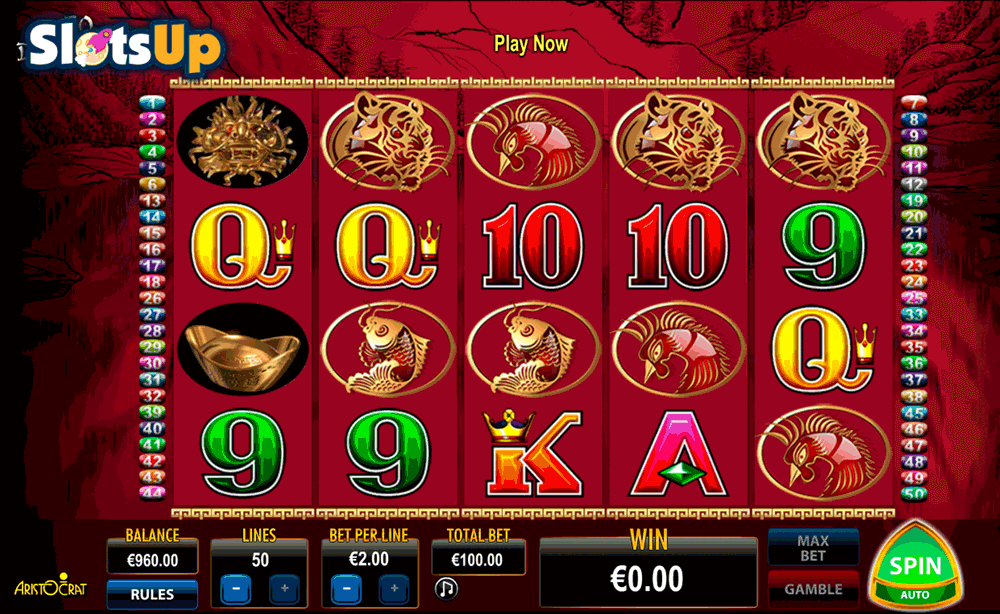 50 DRAGONS ARISTOCRAT CASINO SLOTS