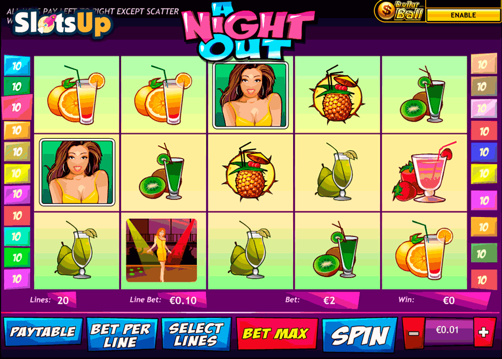 A Night Out™ Slot Machine Game to Play Free in Playtechs Online Casinos