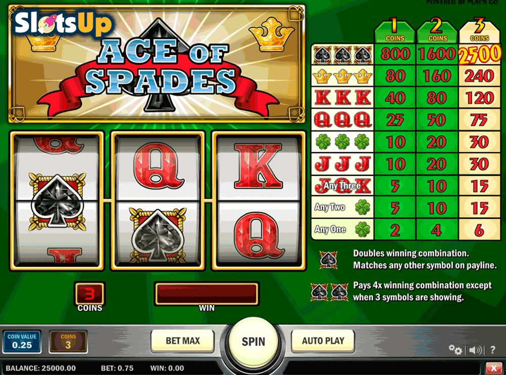 ACE OF SPADES PLAYN GO CASINO SLOTS