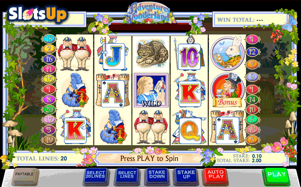 Play Adventures in Wonderland Online Slots at Casino.com NZ