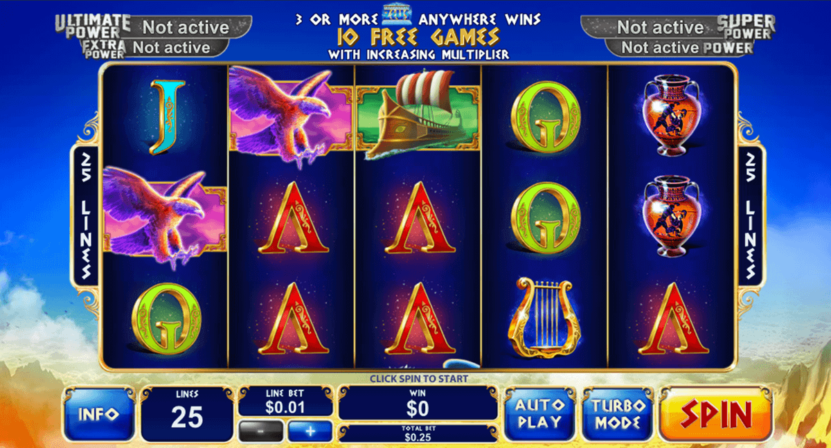 Play Age of the Gods King of Olympus Slots at Casino.com New Zealand